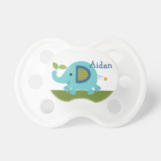 Personalized Elephant Animal Parade Baby Pacifier