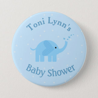Personalized Elephant Baby Shower Button