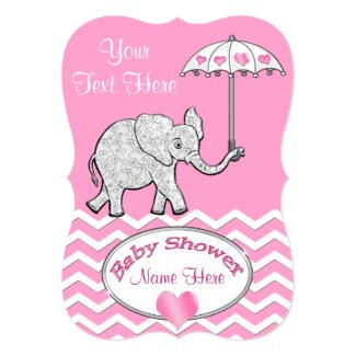 Personalized Elephant Baby Shower Invitations