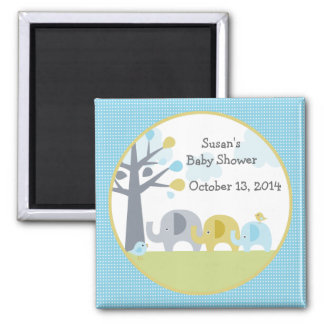 Personalized Elephant Love Magnet/Party Favor 2 Inch Square Magnet