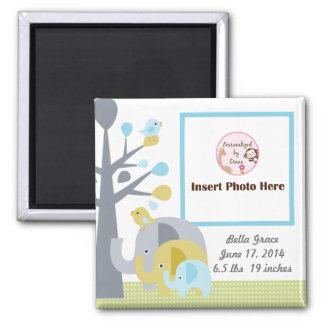 Personalized Elephant Love Photo Frame Magnet