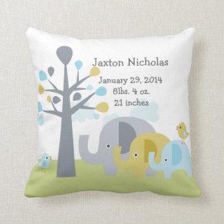 Personalized Elephant Love Pillow Keepsake