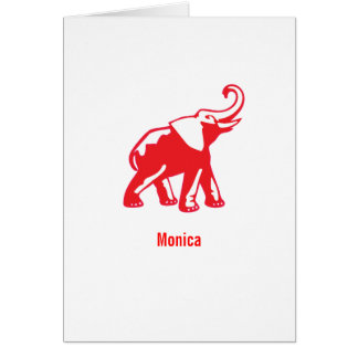 Personalized Elephant note cards
