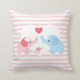 Personalized Elephant Parents and Baby Pillows