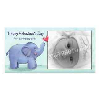 Personalized Elephant Valentine s Day Photo Cards
