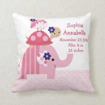 "Personalized ""Ellie Elephant/Turtle/Owl"" Pillow"
