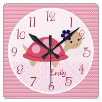 Personalized Ellie/Ella Elephant Nursery Clock