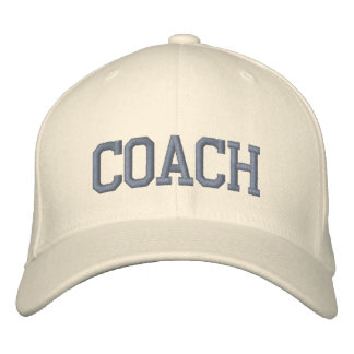 Personalized & Embroidered Coach Cap | Hat