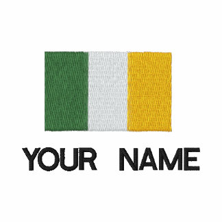 Personalized Embroidered Irish Flag T-Shirt