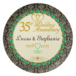 PERSONALIZED Emerald 35th Anniversary Plate