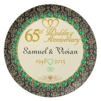 PERSONALIZED Emerald 65th Anniversary Plate