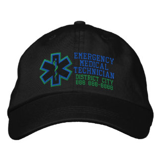 Personalized Emergency Medical Technician Embroidered Baseball Hat