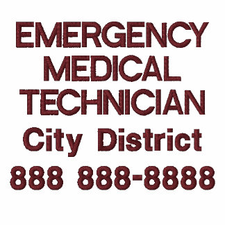 Personalized Emergency Medical Technician EMT Embroidered Polo Shirt