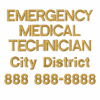 Personalized Emergency Medical Technician EMT Embroidered Shirts