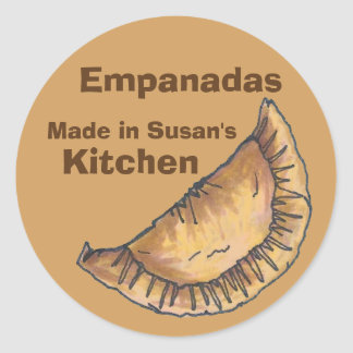 Personalized Empanadas Made Baked Kitchen Sticker