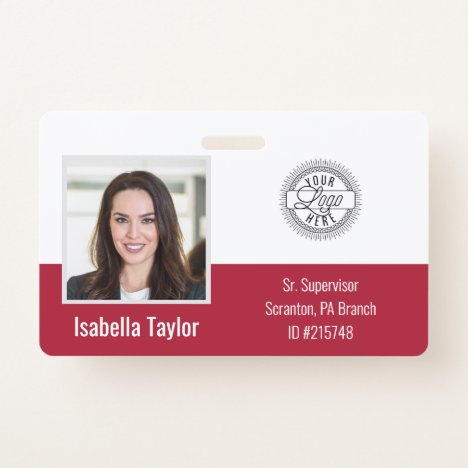 Personalized Employee Photo ID Company Security Badge