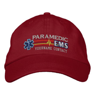 Personalized EMS Paramedic Star of Life Embroidered Baseball Hat