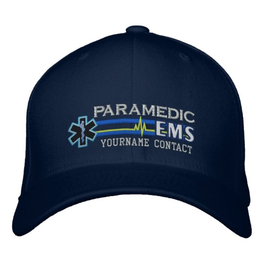 1636024bde5b60 Personalized EMS Paramedic Star of Life Embroidered Baseball Hat ...