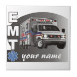 Personalized EMT Small Square Tile