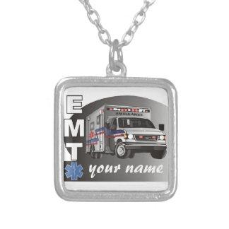 Personalized EMT Square Pendant Necklace