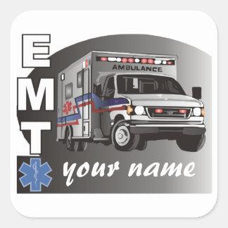 Personalized EMT Square Sticker