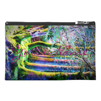 Personalized Enchanted Forest Abstract Art Bagette Travel Accessories Bags