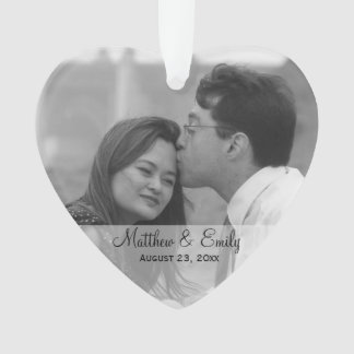 Personalized Engagement or Wedding Photo Ornament