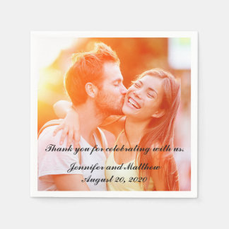 Personalized Engagement Photo Paper Napkins