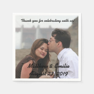 Personalized Engagement / Wedding Photo Napkins Paper Napkins