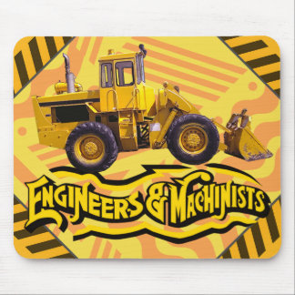 Personalized Engineers and Machinists Construction Mouse Pad