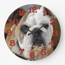 Personalized English Bulldog Wall Clock
