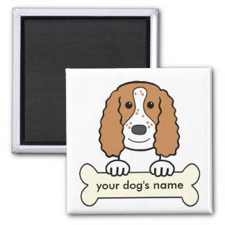 Personalized English Cocker Spaniel 2 Inch Square Magnet
