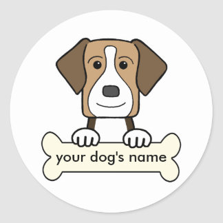 Personalized English Foxhound Classic Round Sticker