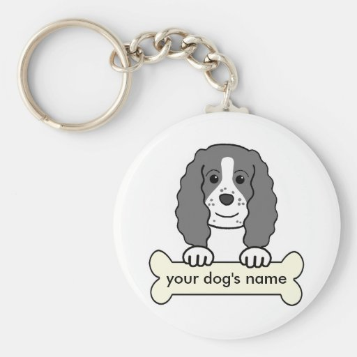Personalized English Springer Spaniel Basic Round Button Keychain