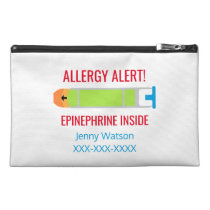 Personalized Epinephrine Medication Allergy Alert Travel Accessories Bags