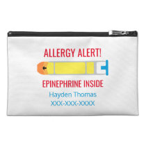 Personalized Epinephrine Medication Allergy Alert Travel Accessory Bag