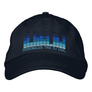 Personalized Equalizer Embroidery 4 the DJ in You! Cap