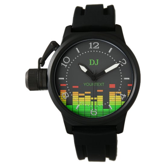 Personalized Equalizer Vibes Beat of DJ Music dial Wristwatch