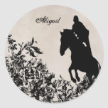 Personalized Equestrian Horse Jumping Sticker