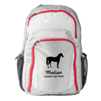 Personalized Equestrian Horse & Riders Custom Name Backpack