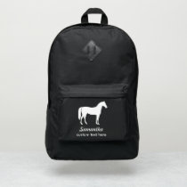 Personalized Equestrian Horse & Riders Custom Name Port Authority® Backpack