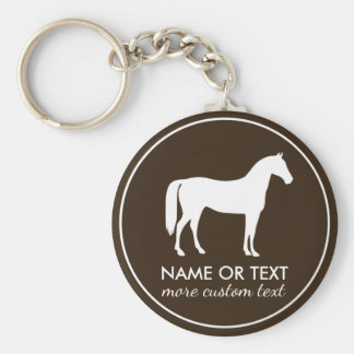 Personalized Equestrian Horseback Riding Name Keychain