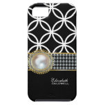 Personalized Eternity Circles iPhone 5 Case -black