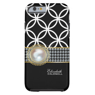 Personalized Eternity Circles iPhone 6 case -black