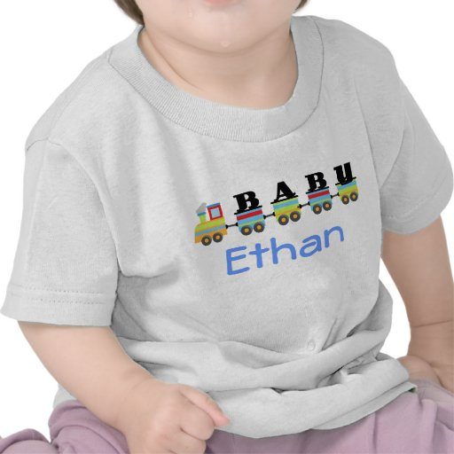 Personalized Ethan Name Baby Train Gift Shirts Zazzle
