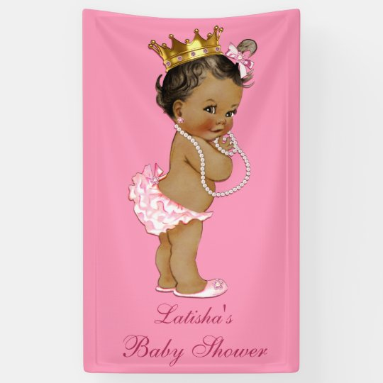 personalized ethnic little princess baby shower banner zazzle