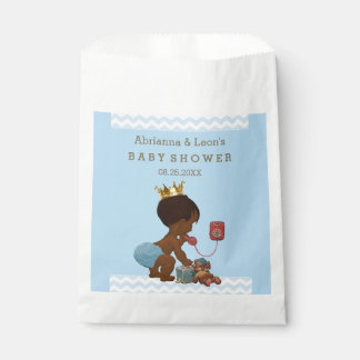 Personalized Ethnic Prince Baby Shower Chevrons Favor Bag
