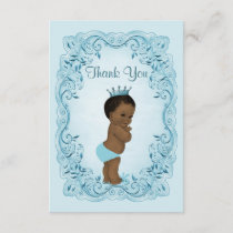 Personalized Ethnic Prince Baby Shower Thank You