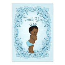 Personalized Ethnic Prince Baby Shower Thank You Card