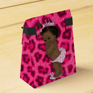 Personalized Ethnic Princess Baby Leopard Pattern Favor Box